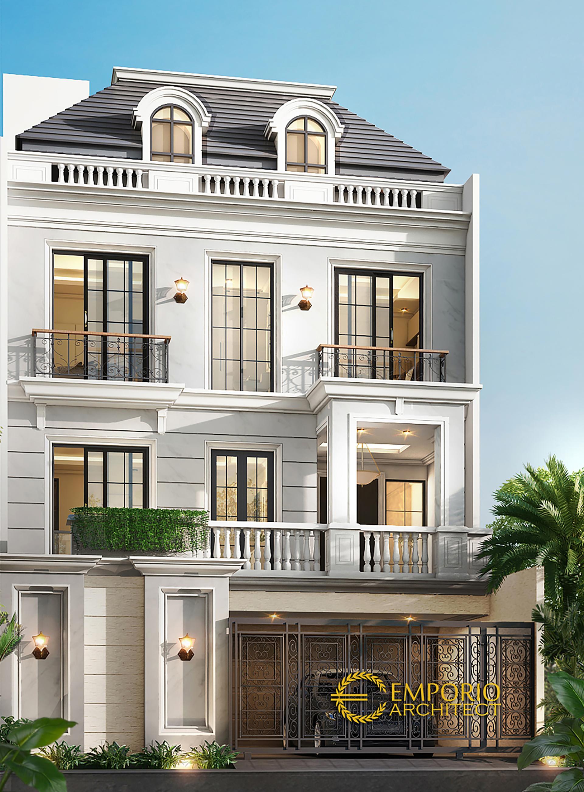 Desain Rumah Classic 4 Lantai Bapak Bernard Di Jakarta Utara