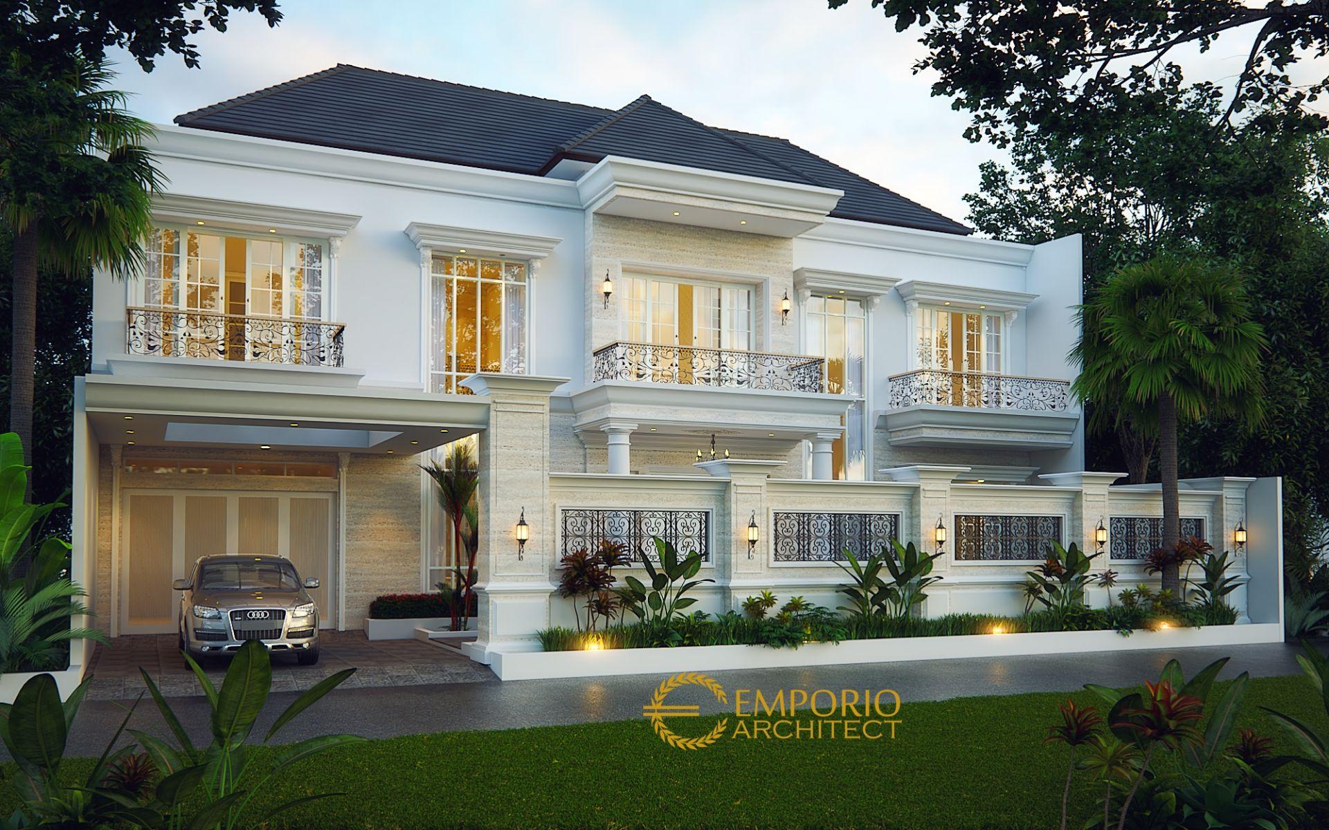 Desain Rumah Classic 2 Lantai Bapak Tony di  Jambi