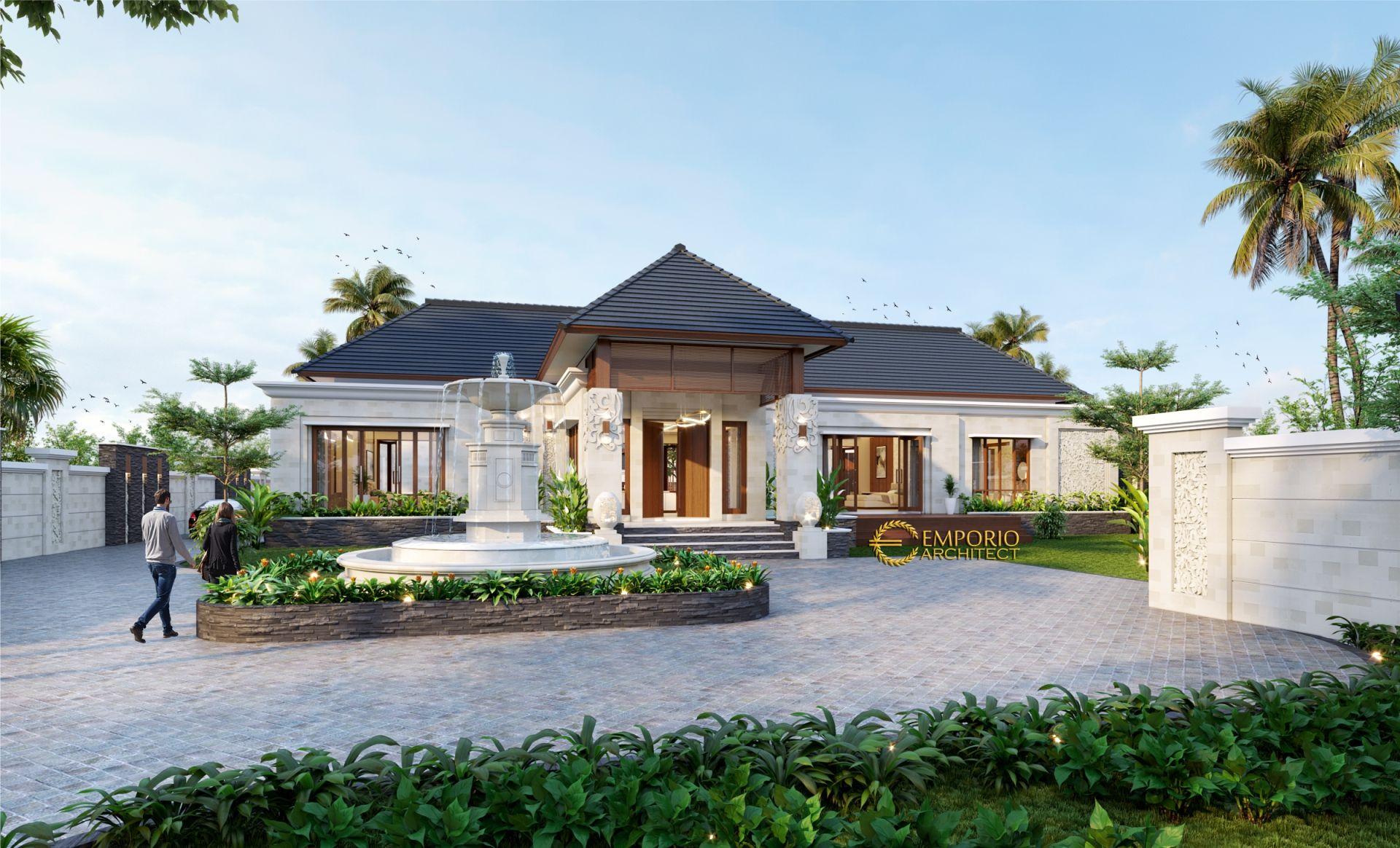 Desain Rumah Villa Bali 1 Lantai Bapak Taufan di Jember