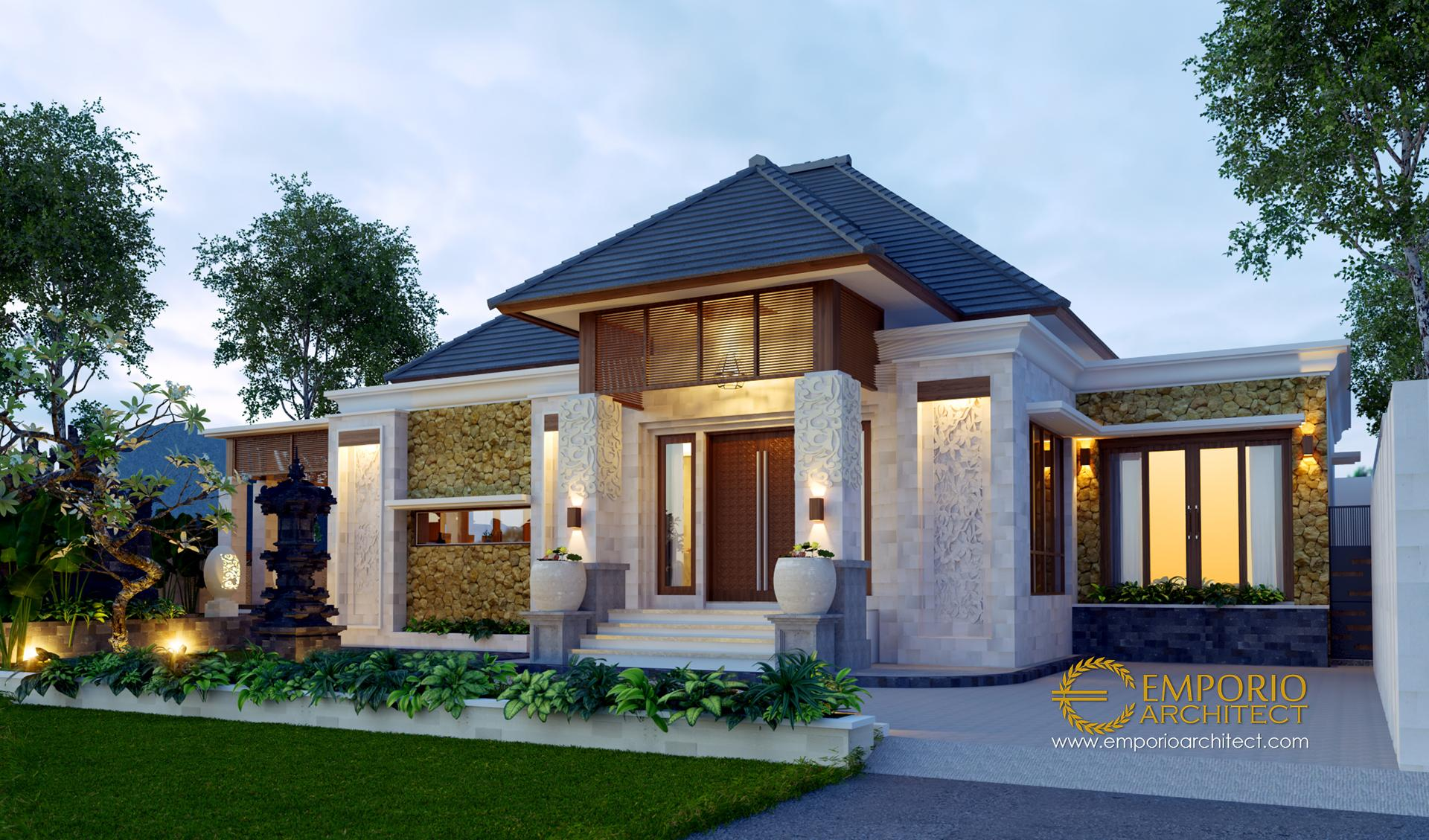 Desain Rumah Villa Bali 1 Lantai Bapak Made Di Jimbaran Badung Bali