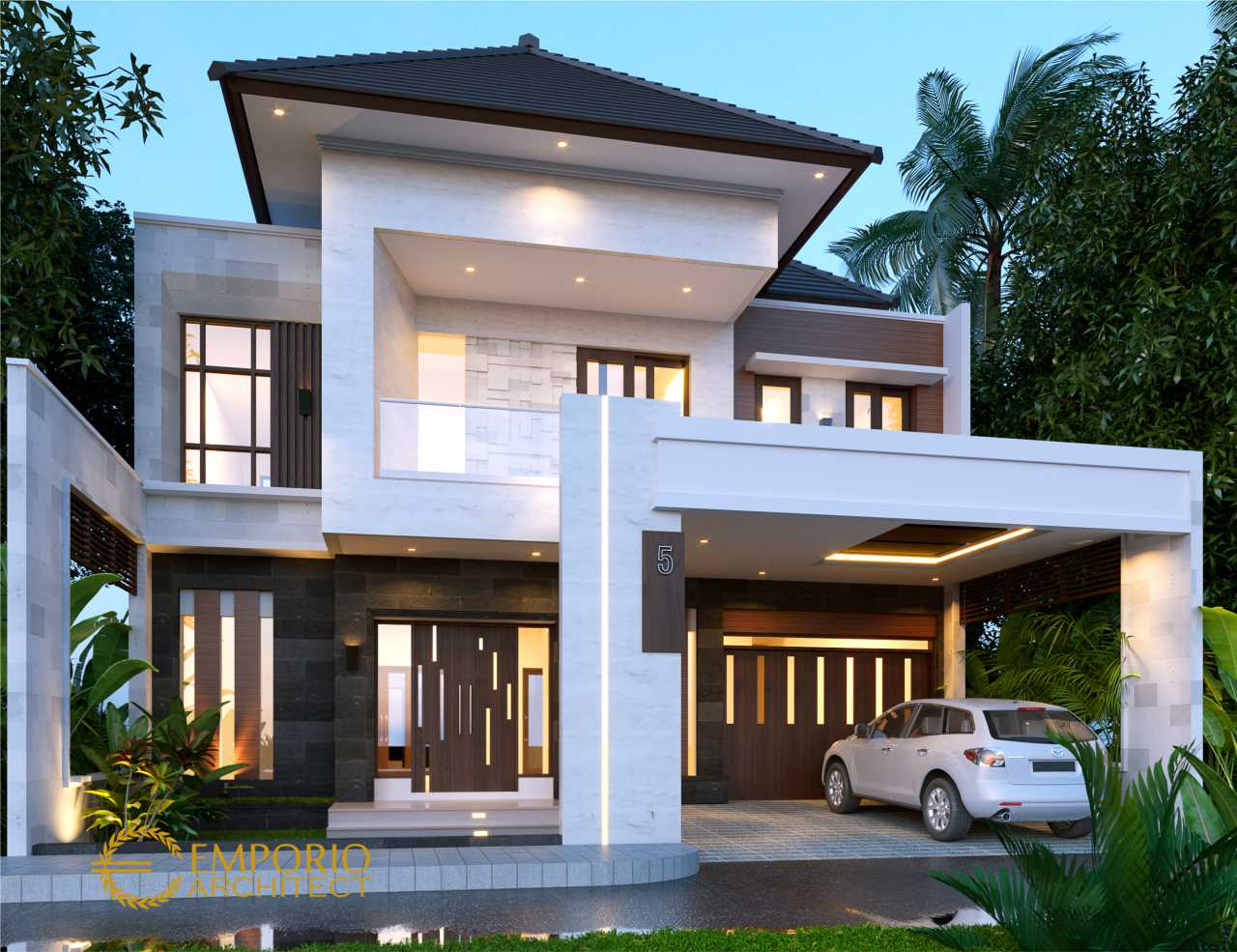 Desain Rumah Modern 2 Lantai Bapak Deni Di Karawang Jawa Barat