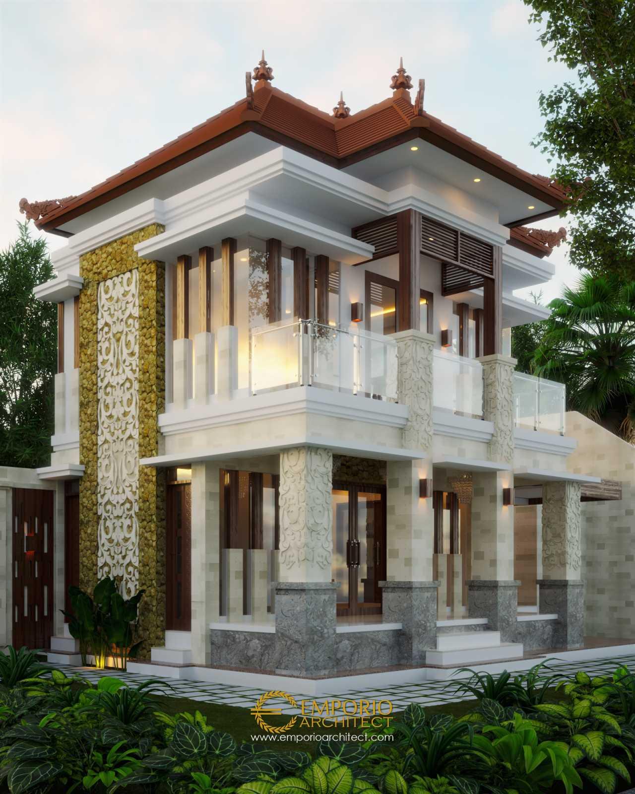 Desain Rumah Villa Bali 2 Lantai Bapak Komang Adi II Di