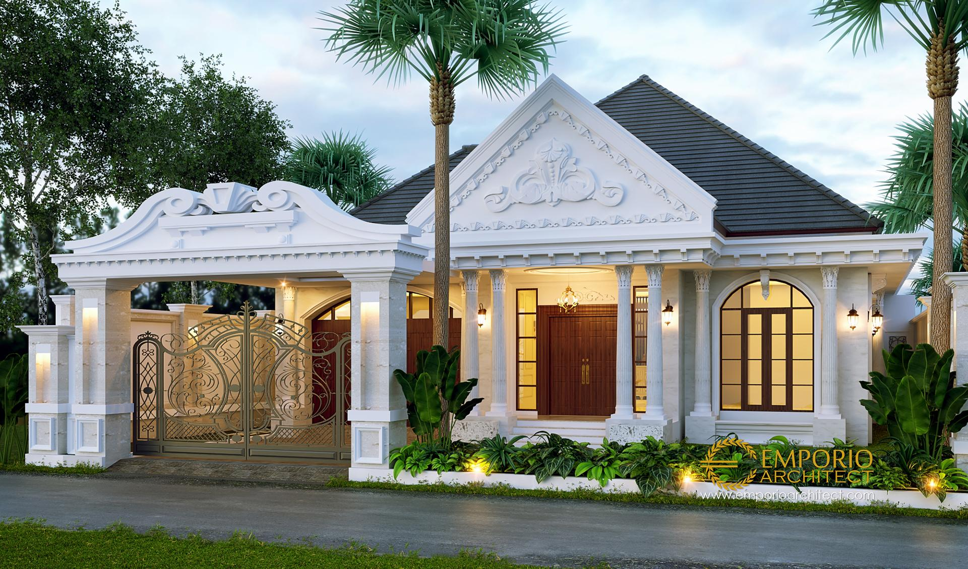 Desain Rumah Classic 1 Lantai Bapak Reza Di Lampung