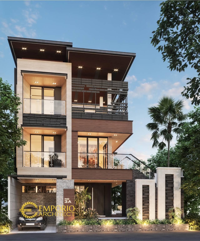 Desain Rumah Modern 3 Lantai Ibu Wijaya di Malang Jawa Timur