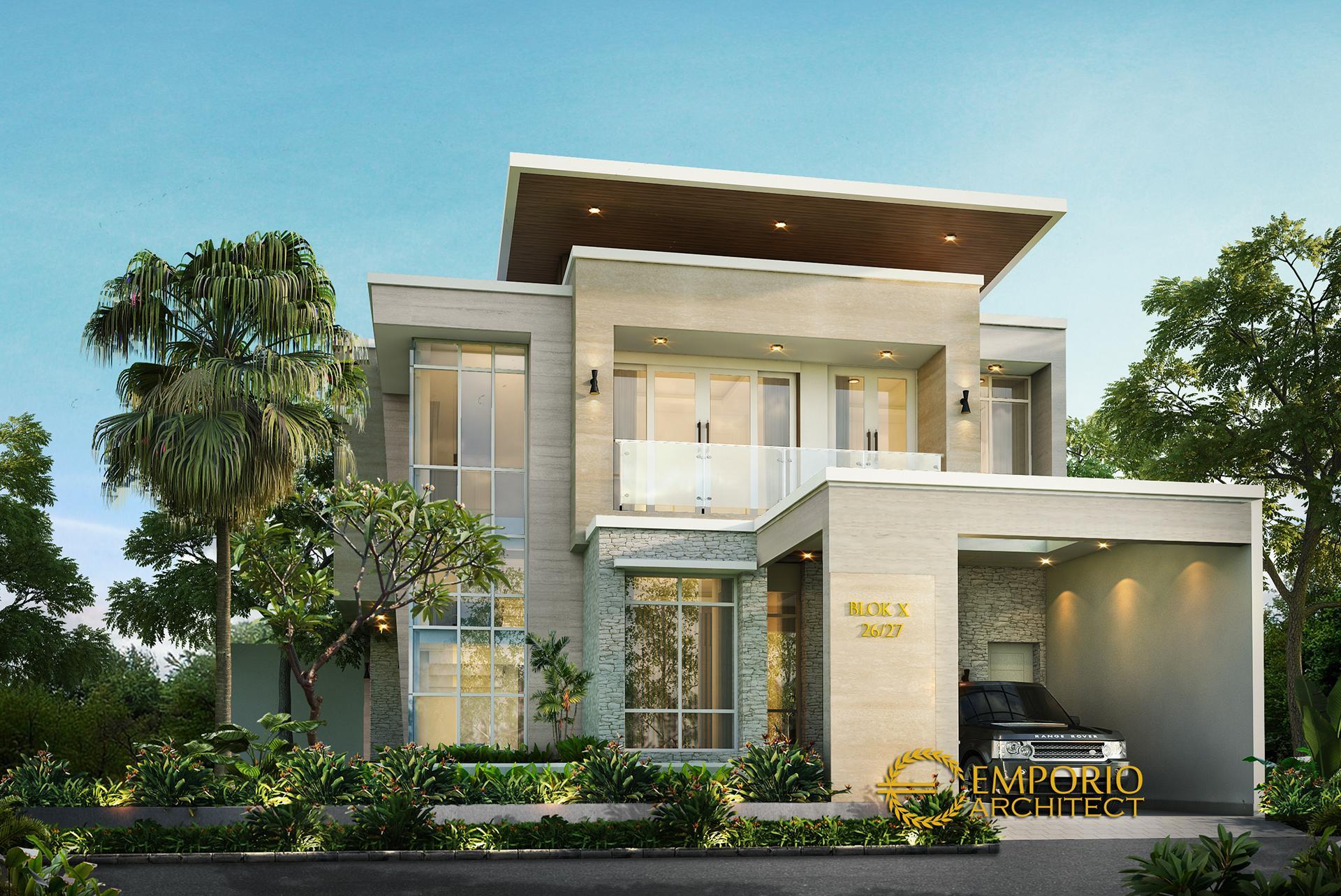 Mr. Okov Modern House 2 Floors Design - Palembang