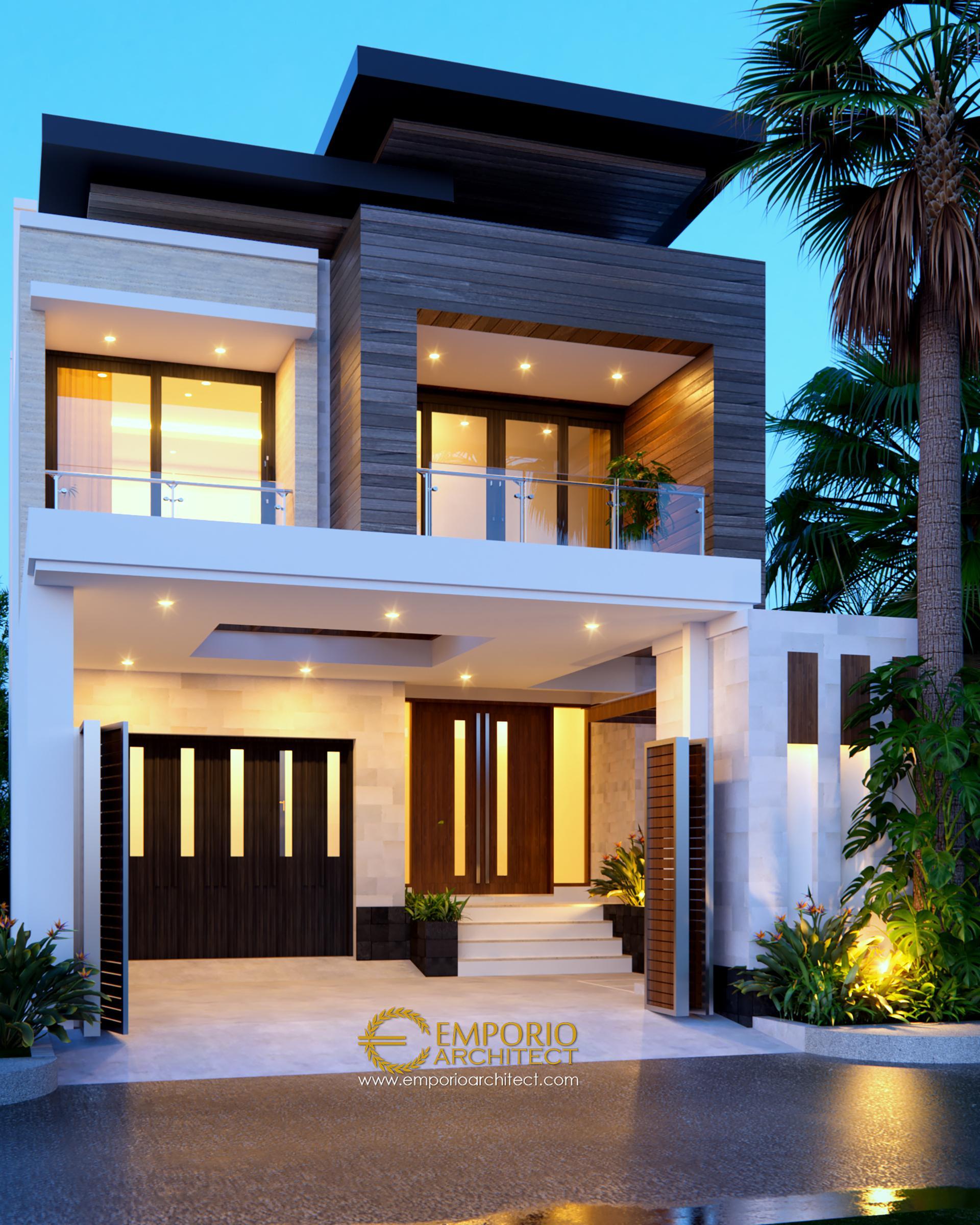 Desain Rumah Modern 2 Lantai Ibu Via di Semarang