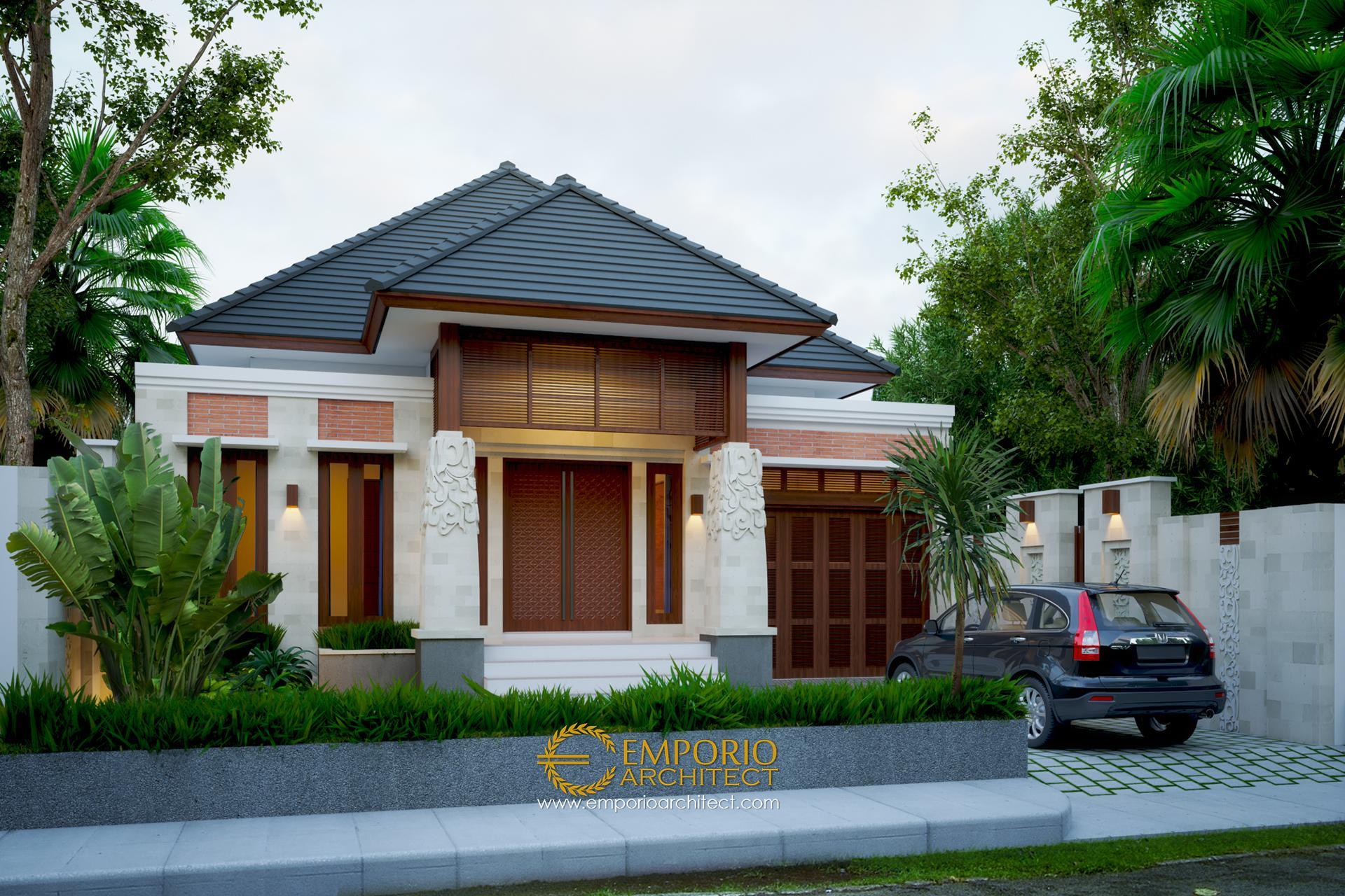 Desain Rumah Villa Bali Tropis 1 Lantai Bapak Ammal Rozib di  Sumatera Selatan