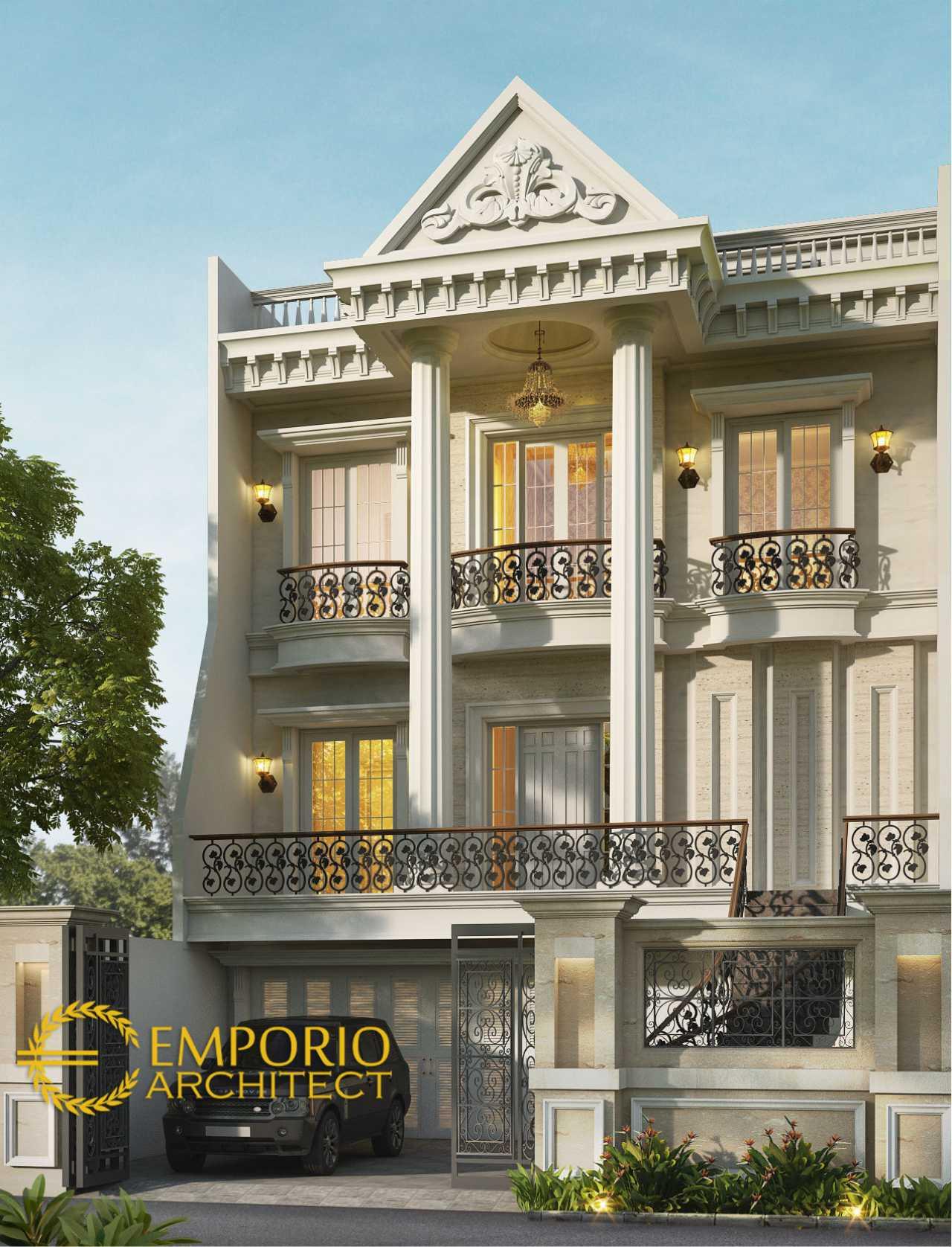 Desain Rumah Classic 3 Lantai Bapak Erik di Sunter Jakarta