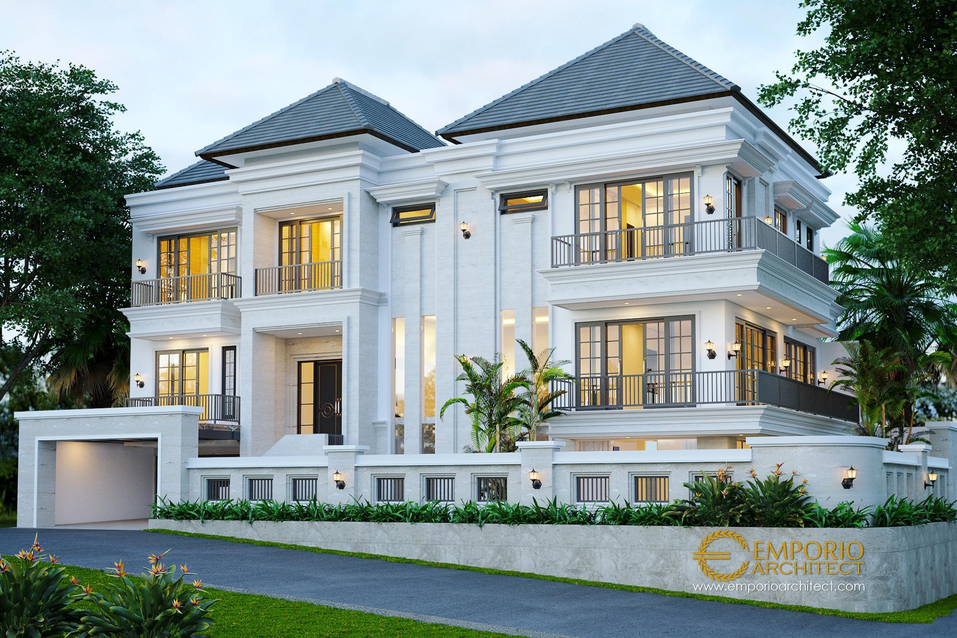 Desain Rumah Hook Classic 3 Lantai Ibu Chrislie di  Surabaya