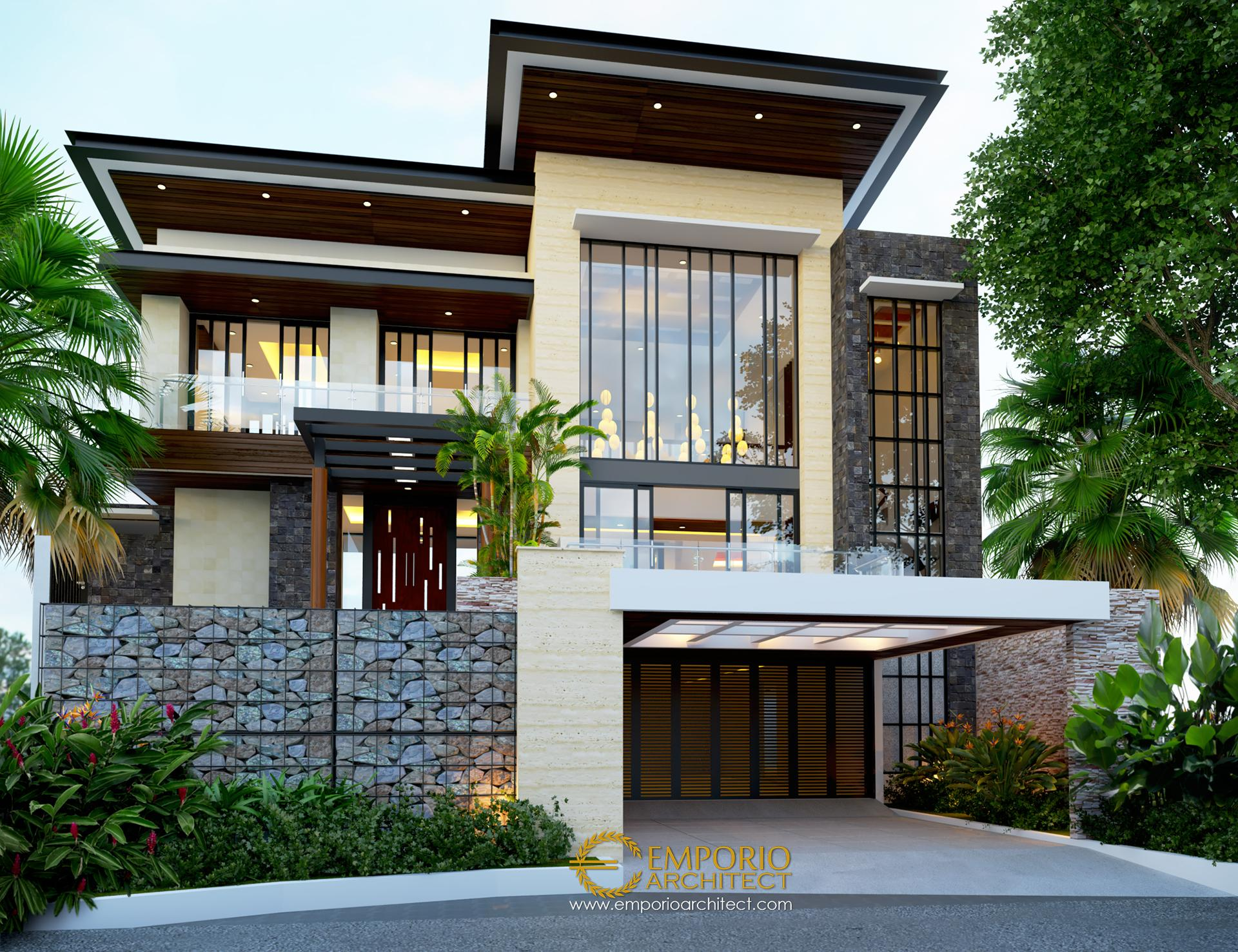 Desain Rumah Modern 2 Lantai Bapak Ale di Tangerang Banten