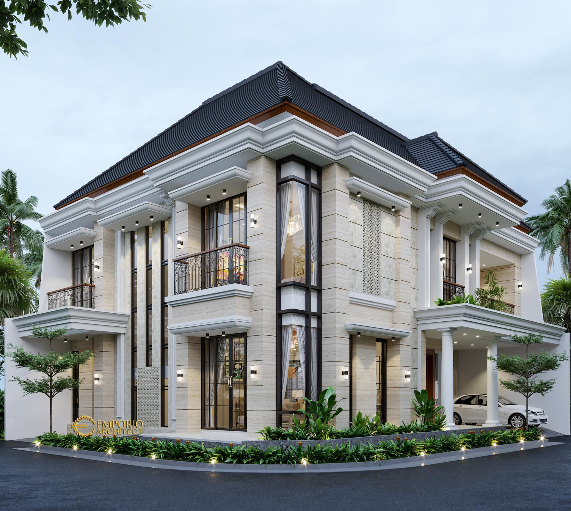 Desain Rumah Hook Classic 2 Lantai Ibu Susan di  Tangerang