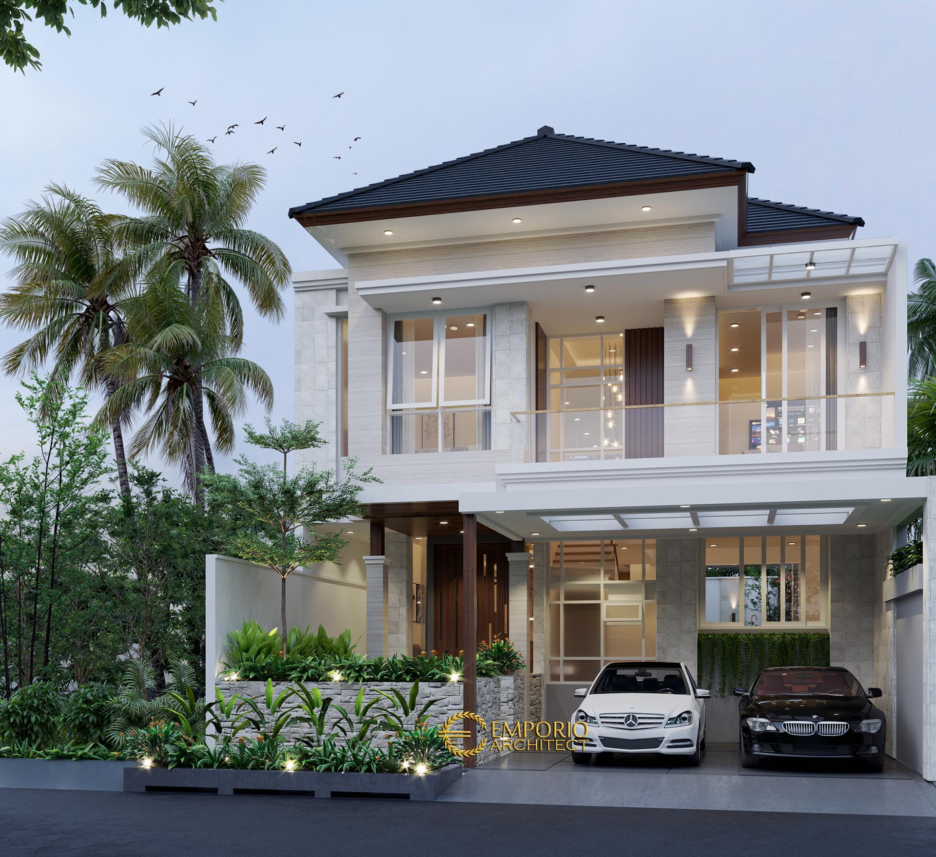 Desain Rumah Modern 2 Lantai Bapak Ngurah Indira di  Tangerang Selatan, Banten