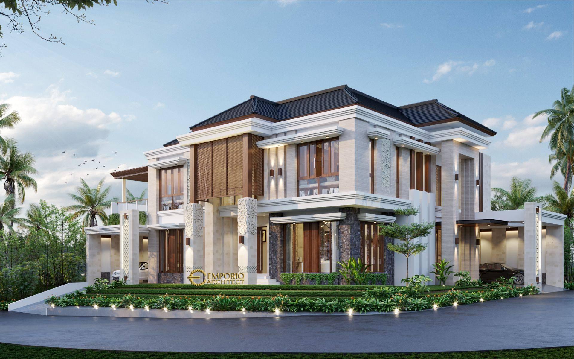 Desain Rumah Villa Bali 2 Lantai Ibu Verawaty di Tangerang ...