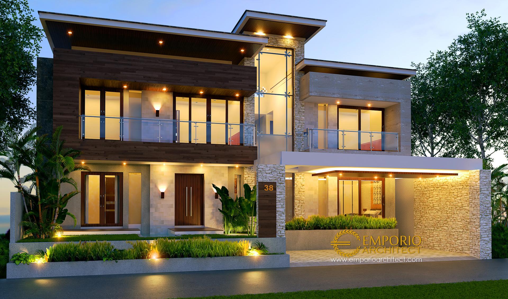 Desain Rumah Modern 2 Lantai Ibu Weni di  Tanjung Selor, Kalimantan Utara