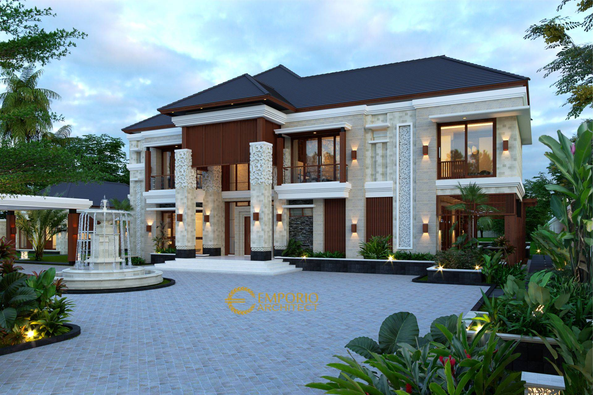 Desain Rumah Villa Bali 2 Lantai Mr Mohamoud di Tanzania