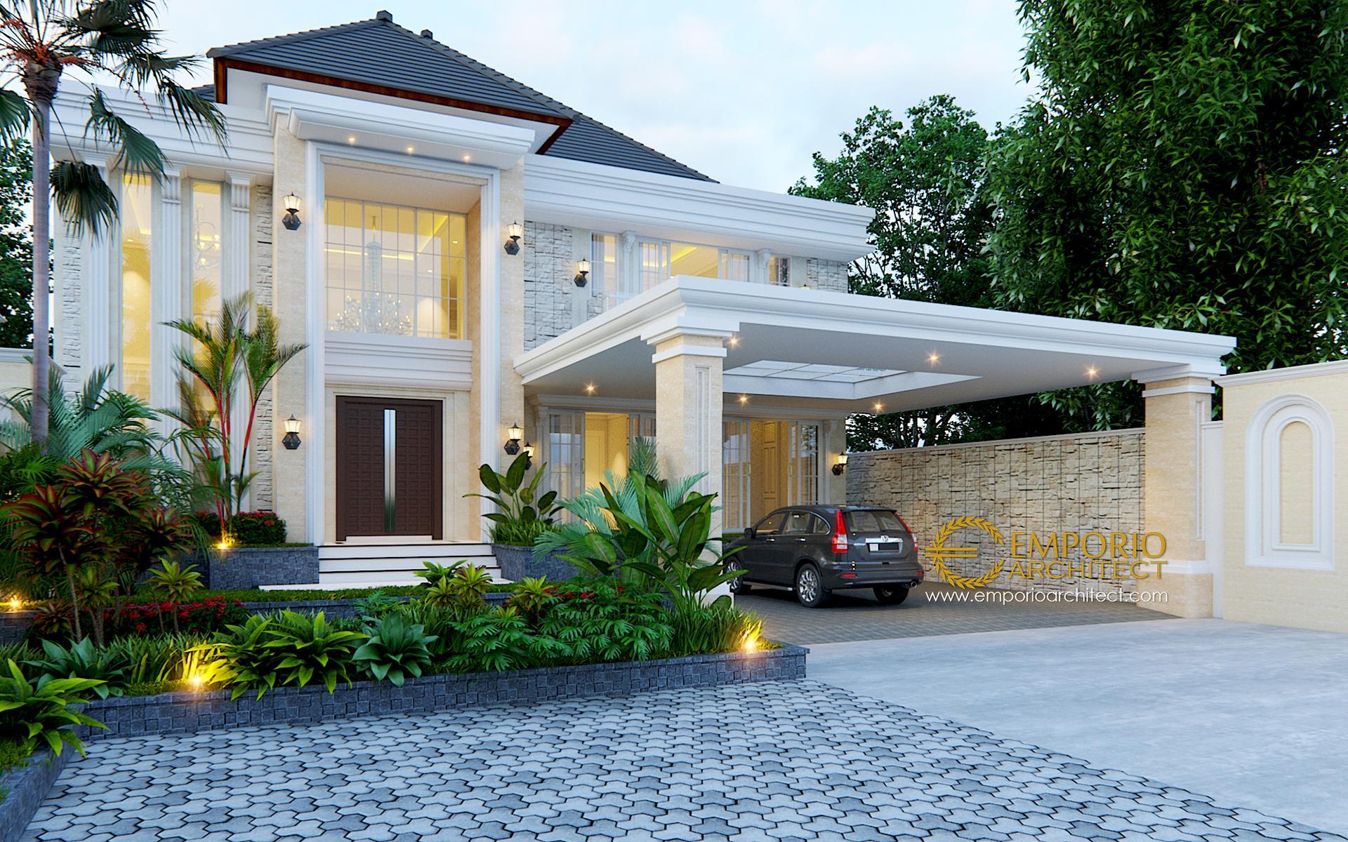 Desain Rumah Classic 2 Lantai Bapak Gatot Di Yogyakarta