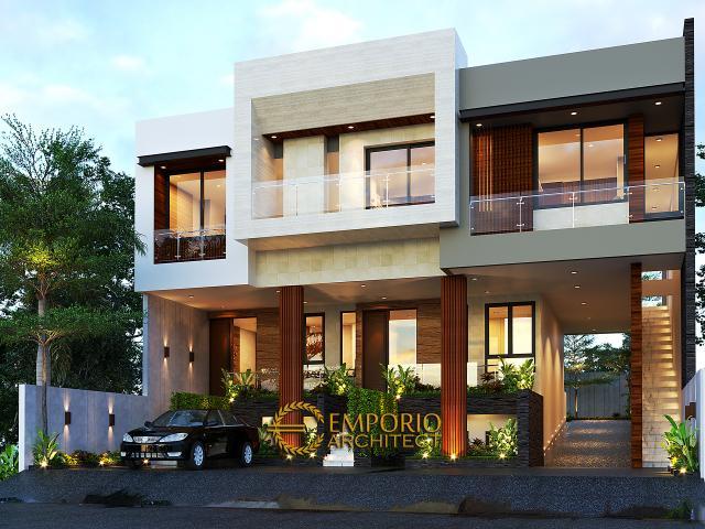 Desain Tampak Depan 3 Apartemen Modern 3 Lantai Ibu Fei-Fei di Bandung, Jawa Barat