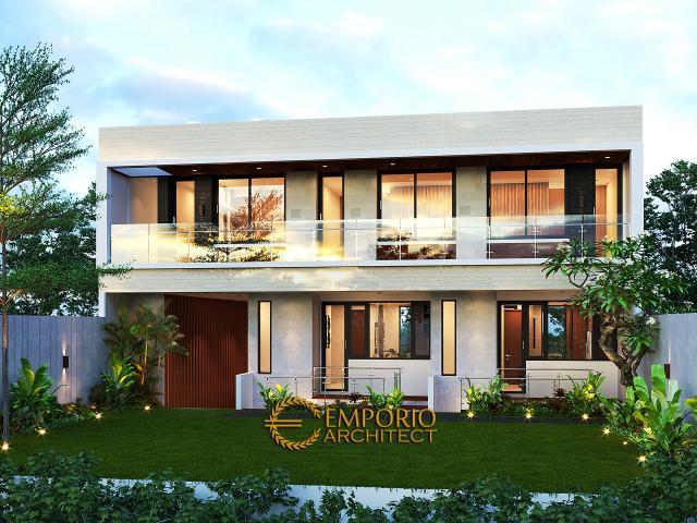 Desain Tampak Belakang 1 Apartemen Modern 3 Lantai Ibu Fei-Fei di Bandung, Jawa Barat