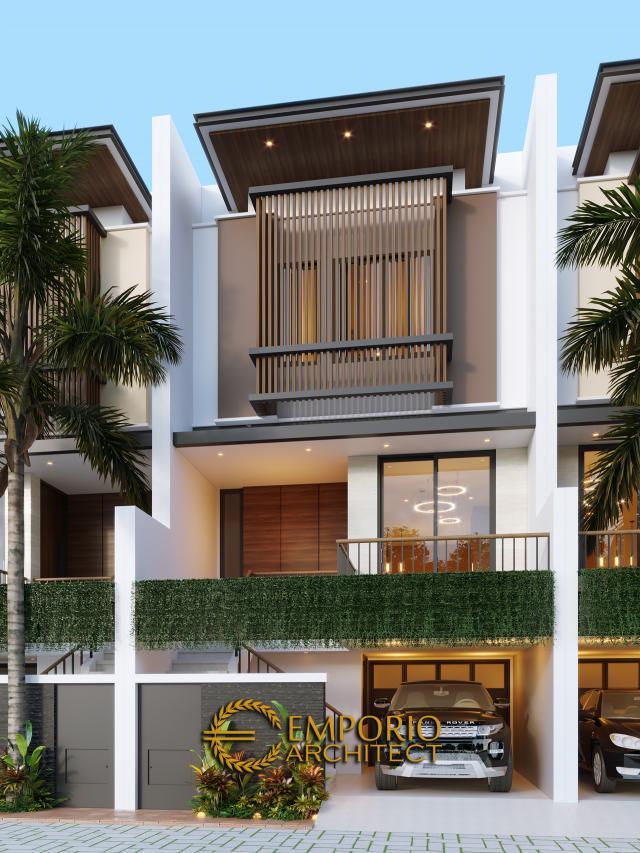 Desain Tampak Depan 2 Cluster Modern 3 Lantai Royale Indah Kapuk Cengkareng di Jakarta Barat