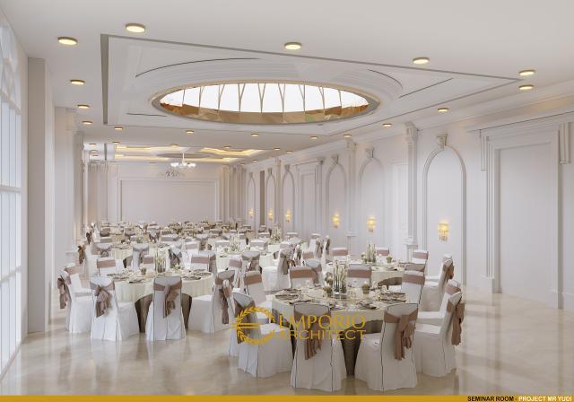 Desain Seminar Room Convention Hall Classic 2 Lantai Bapak Yudi di Jambi