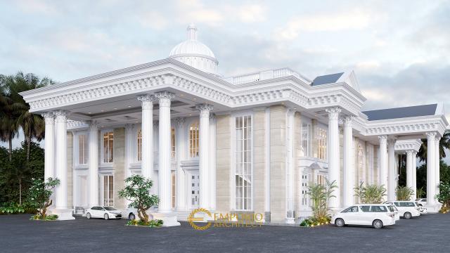 Desain Eksterior Convention Hall Classic 2 Lantai Bapak Yudi di Jambi