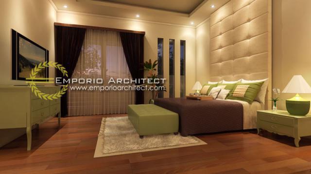 Desain Kamar Tidur Kampoeng Villas di Kerobokan, Bali