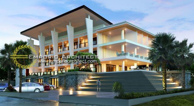 Desain Exterior 2 Kampus Modern 4 Lantai Primakara School di Bali