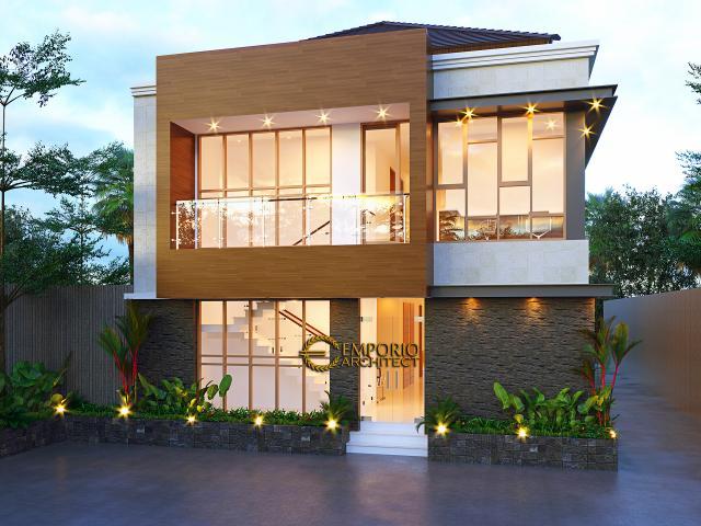 Desain Tampak Belakang 2 Klinik Mitra Santosa Modern 2 Lantai di Bandung, Jawa Barat