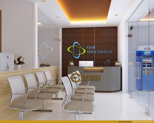 Desain Ruang Tunggu Klinik Mitra Santosa Modern 2 Lantai di Bandung, Jawa Barat
