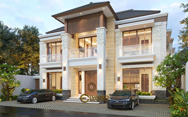 Desain Kost Villa Bali 2 Lantai Ibu Olive di Bali - Tampak Depan