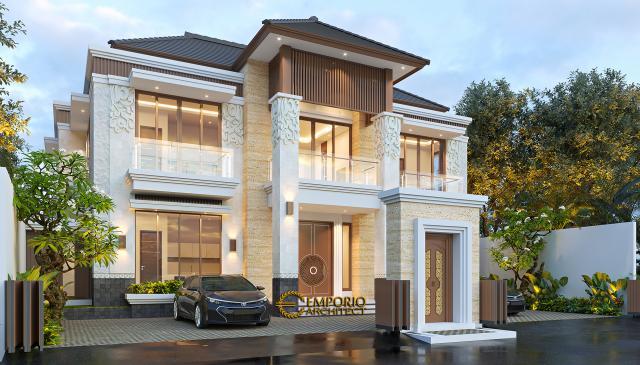 Desain Tampak Depan 3 Kost Villa Bali 2 Lantai Ibu Olive di Bali