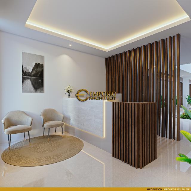 Desain Reception Kost Villa Bali 2 Lantai Ibu Olive di Bali