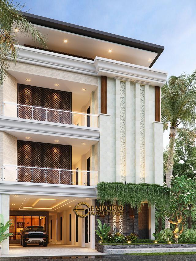 Desain Kost Villa Bali 3 Lantai Bapak dr. Rivandi di Bali - Tampak Depan