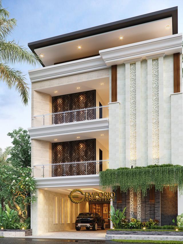 Desain Tampak Depan 2 Kost Villa Bali 3 Lantai Bapak dr. Rivandi di Bali