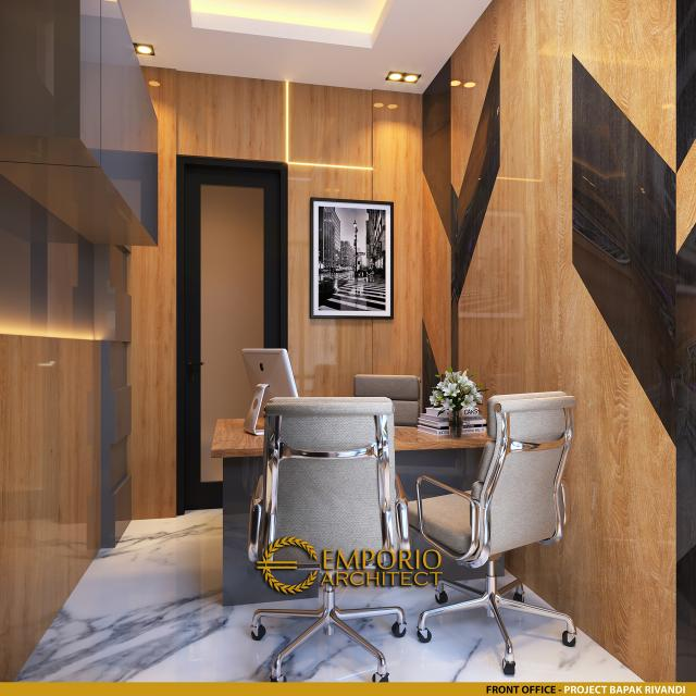 Desain Front Office Kost Villa Bali 3 Lantai Bapak dr. Rivandi di Bali