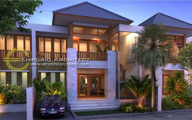 Desain Exterior Perumahan Villa Bali 2 Lantai Lestari Residence di Bali