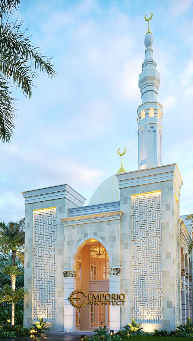 Desain Tampak Depan Masjid Classic 2 Lantai Riyadhuul Ulum di Jakarta