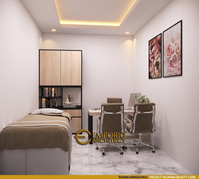Desain Ruang Konsultasi Najmina Beauty Care Modern 2 Lantai di Blora, Jawa Tengah