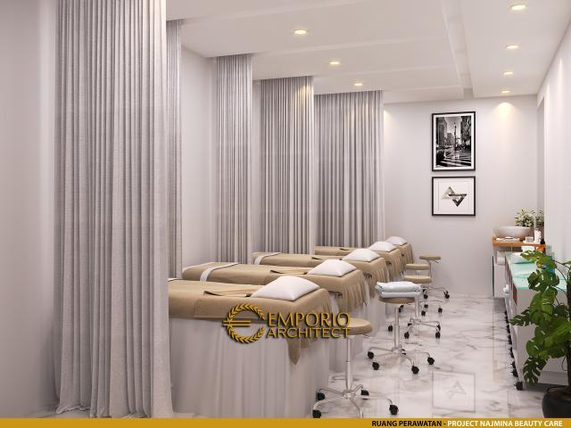Desain Ruang Perawatan Najmina Beauty Care Modern 2 Lantai di Blora, Jawa Tengah
