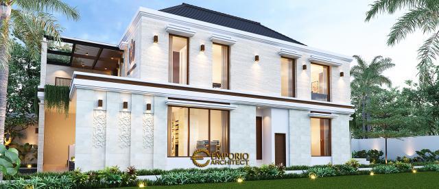 Desain Tampak Samping Najmina Beauty Care Modern 2 Lantai di Blora, Jawa Tengah