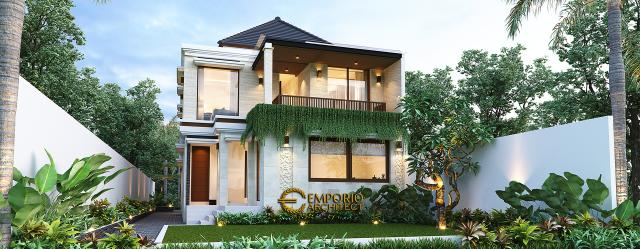 Desain Tampak Belakang Najmina Beauty Care Modern 2 Lantai di Blora, Jawa Tengah