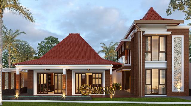 Desain Pendopo Klasik Jawa 2 Lantai Bapak Erwin di Cibubur, Jakarta Timur - Tampak Samping