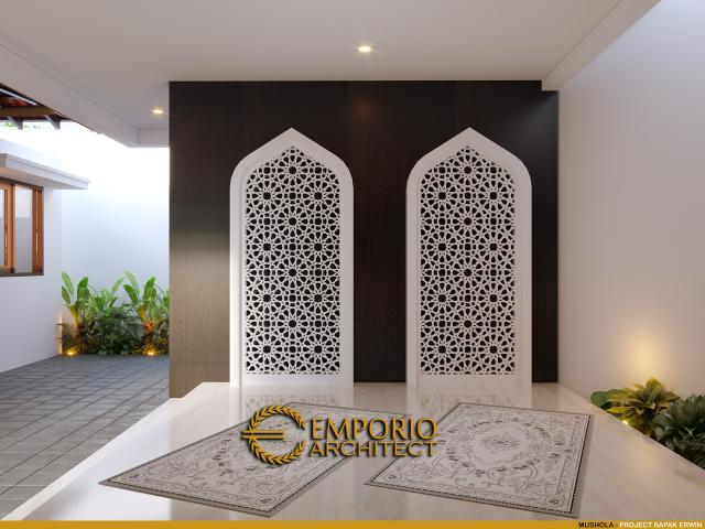 Desain Mushola Pendopo Klasik Jawa 2 Lantai Bapak Erwin di Cibubur, Jakarta Timur