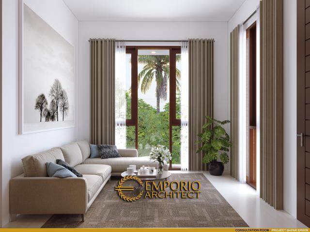 Desain Ruang Konsultasi Pendopo Klasik Jawa 2 Lantai Bapak Erwin di Cibubur, Jakarta Timur
