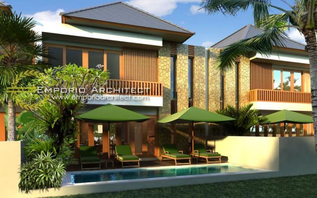 Desain Exterior 1 Perumahan Villa Bali 2 Lantai Lestari Living di Bali
