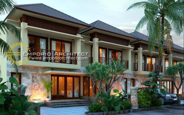 Desain Exterior 1 Perumahan Villa Bali 2 Lantai Bapak Putra di Depok
