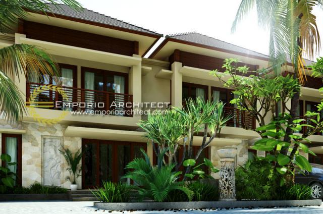Desain Exterior 2 Perumahan Villa Bali 2 Lantai Bapak Putra di Depok