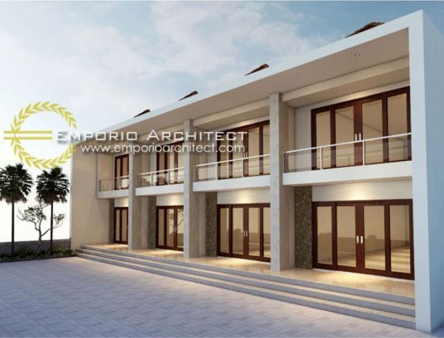 Desain Exterior Ruko Modern 2 Lantai Bapak Awi Singaraja di Bali