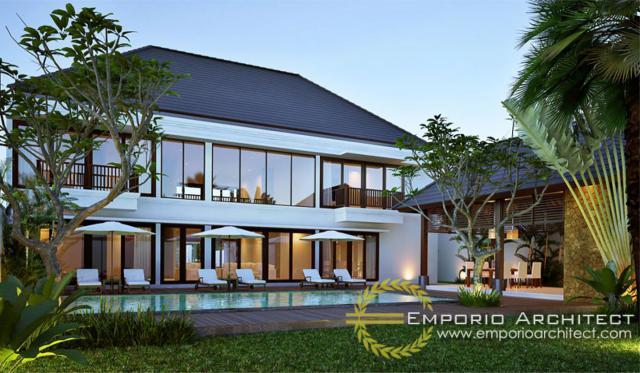 Desain Rumah Villa Bali 2 Lantai Type 570 di Sempidi, Badung, Bali