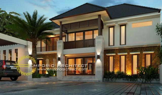 Desain Rumah Villa Bali 2 Lantai Bapak Freddy di  Samarinda Kalimantan